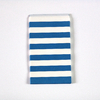 15 pochettes cadeaux papier rayures bleu marine