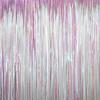 Rideau métallisé à franges iridescentes