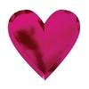 8 assiettes carton coeur rose métallisé