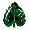 8 assiettes carton feuille de palmier