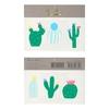 6 tatouages temporaires cactus