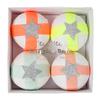 4 boules surprises fluo et pastel