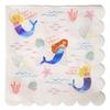 16 serviettes papier sirène