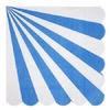 20 serviettes papier rayures bleu