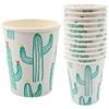 12 gobelets cactus en carton