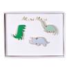 3 pins dinosaure en émail