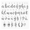 85 lettres Lovely script et symboles lightbox