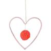 Mobile coeur et pompon