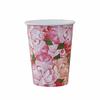 8 gobelets carton fleurs bohème