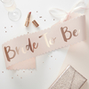 Echarpe en papier Bride to Be rose gold et blush