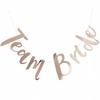 Guirlande de lettres en papier Team Bride rose doré