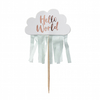 10 cake toppers nuage Hello World