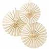 3 rosaces en papier ivoire