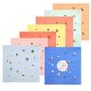 16 petites serviettes multicolores à étoiles dorées
