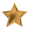 8 assiettes carton métallisé étoile dorée