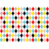 8 sets de table en papier losanges multicolores