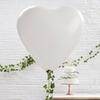 3 ballons géants coeur blanc