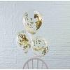 5 ballons confettis dorés