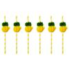 12 pailles en papier ananas alvéolé