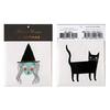 2 tatouages temporaires sorcière et chat noir