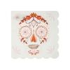16 serviettes cocktail crâne mexicain