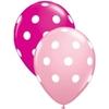 Ballon gros pois rose