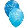 Ballons baby shower garçon bleu