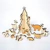 Calendrier de l'Avent en bois animaux de la forêt