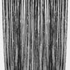 Rideau métallisé à franges noires