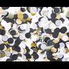 Confettis en papier de soie noir blanc doré