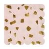 16 serviettes papier terrazzo rose doré