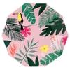 12 assiettes carton imprimé tropical