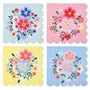 16 serviettes papier fleurs Cachemire