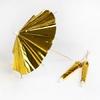 24 piques parasol cocktail dorées