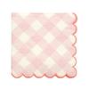 20 petites serviettes vichy rose