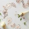 Guirlande florale rose gold