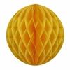 Boule en papier alvéolé jaune moutarde
