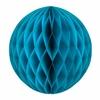 Boule en papier alvéolé bleu canard