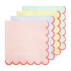 20 serviettes en papier pastel et fluo