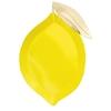 8 assiettes en forme de citron