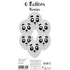 6 ballons panda