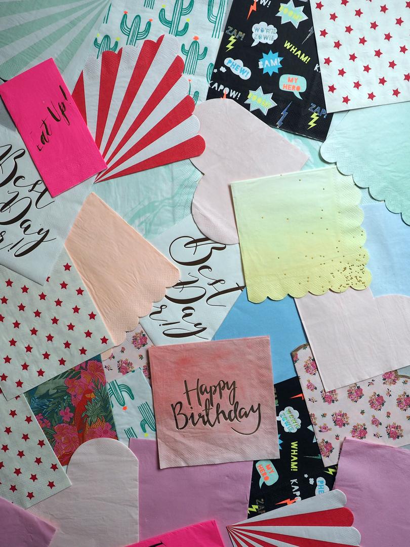 Serviette de table en papier jetable super h ros sweet party day - Serviettes de table en papier ...