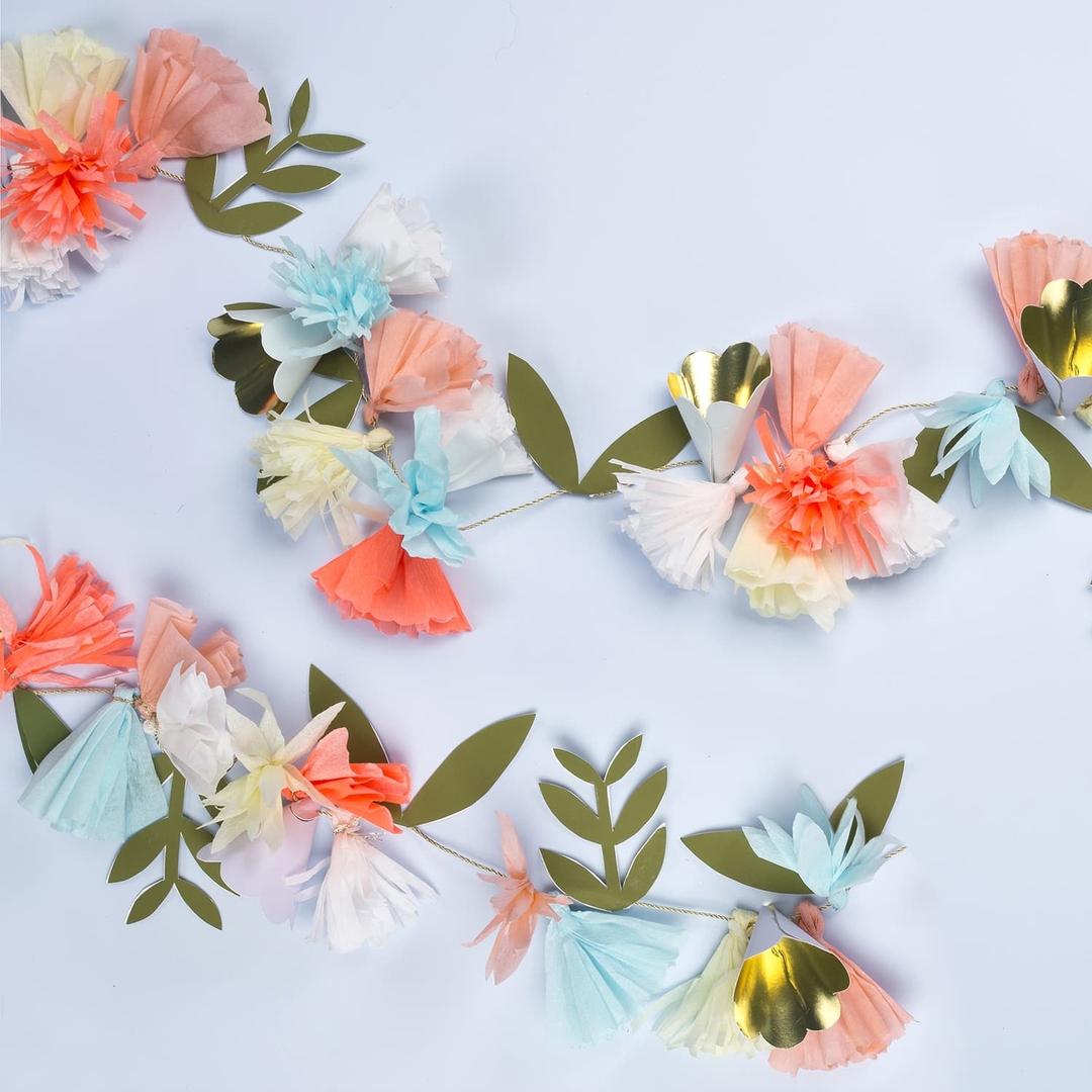 Guirlande de fleurs en papier meri meri mariage boheme for Jardin deluxe fleurs