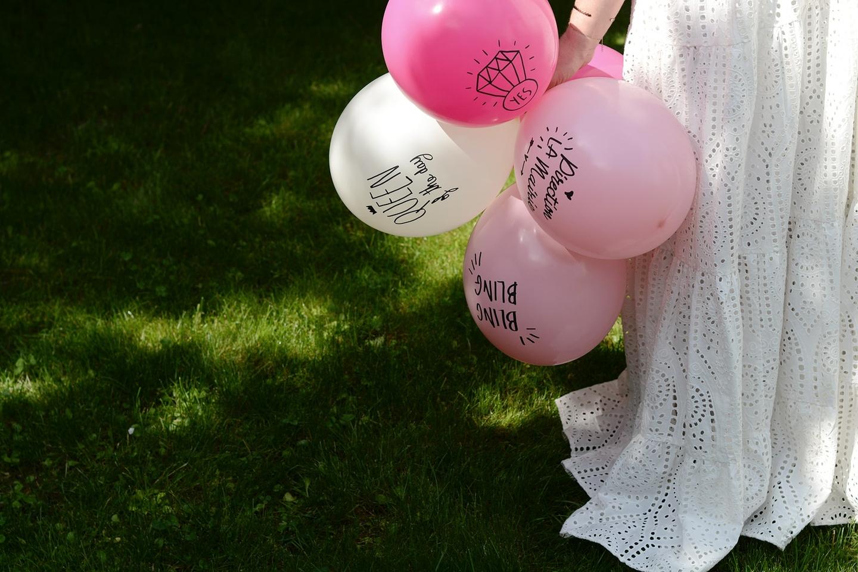 ballon evjf messages en latex rose sweet party day. Black Bedroom Furniture Sets. Home Design Ideas