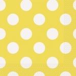 serviettes-jaune-pois