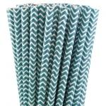 pailles-papier-chevrons-bleu-turquoise