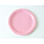 assiette-jetable-en-carton-rose-clair