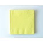 serviette-jetable-jaune-pastel
