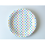assiette-jetable-pois-multicolores