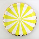 assiette-jetable-raye-jaune-meri-meri